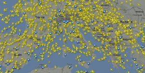 due aerei si scontrino